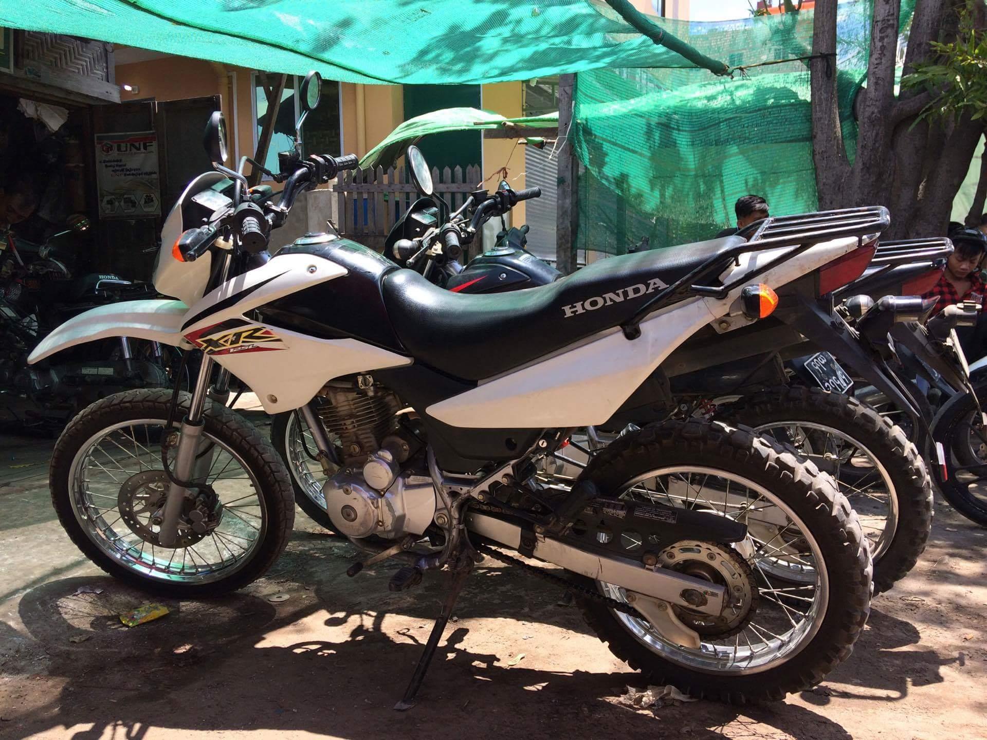 Burna Myanmar motorcycle rental hire Honda XR